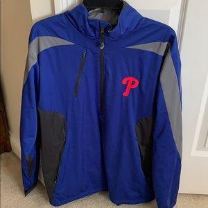 Men's Phillies baseball pull over jacket